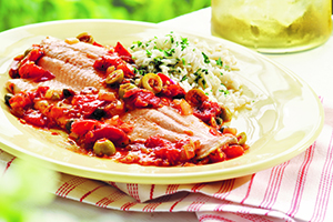Veracruz-Style Rainbow Trout Fillets