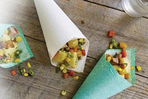 Warm Potato, Corn and Sausage Salad