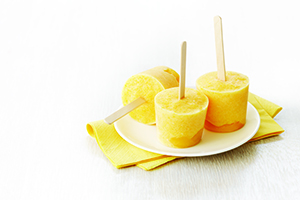 Peach Yogurt Pops
